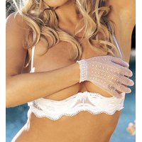 Women's Shirley of Hollywood 331 Scalloped Embroidery Shelf Bra