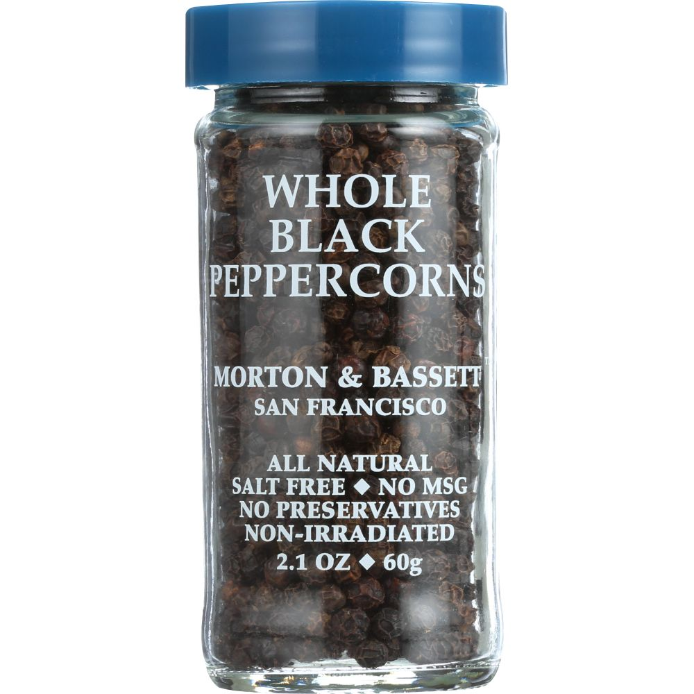 Morton & Bassett Spices Whole Black Peppercorn, 2.1 Oz (Pack Of 3)