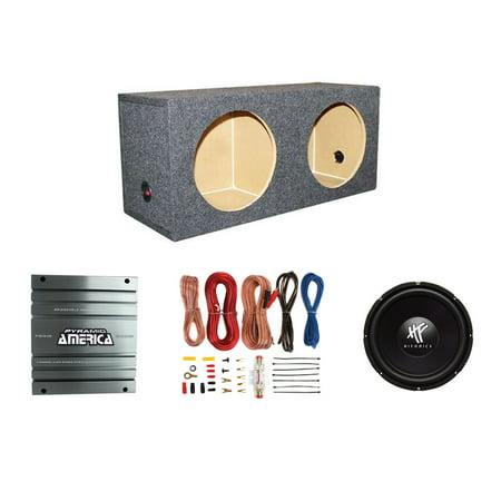 Hifonics 12-Inch Subwoofer w/ Amplifier, Sealed Sub Box Enclosure ...