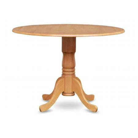 East West Furniture DLT-OAK-TP Dublin Kitchen Round Table with Two 9-in Drop Leaves ()
