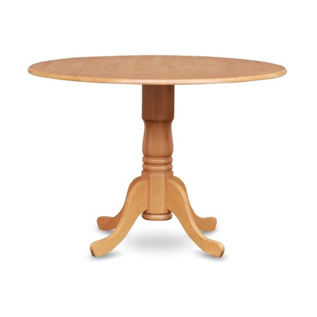 East West Furniture DLT OAK TP Dublin Kitchen Round Table With Two 9