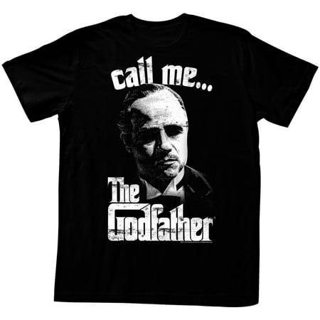 Godfather 1970's Mob Crime Drama Movie Pixeled Don Vito Call Me… Adult T-Shirt - image 1 de 1