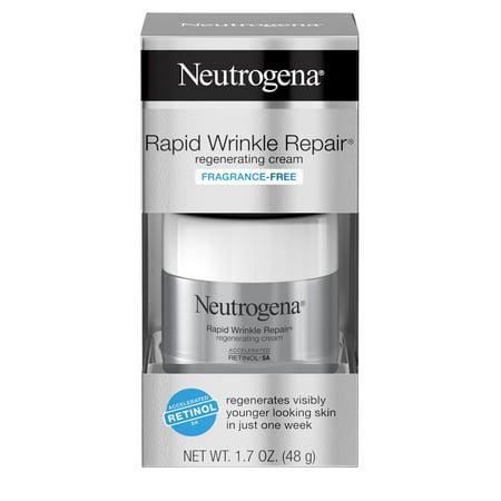Neutrogena Rapid Wrinkle Repair Face & Neck Cream with Retinol, Anti-Aging, 1.7 oz