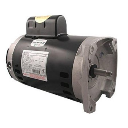 A.O. Smith B2852 3/4 HP, 3450 RPM, 1 Speed, 230/115 Volts, 5.4/10.8 Amps, 1.25 Service Factor, 56Y Frame, PSC, ODP Enclosure Square Flange Pool (Smith Motor 1 Hp Pool)