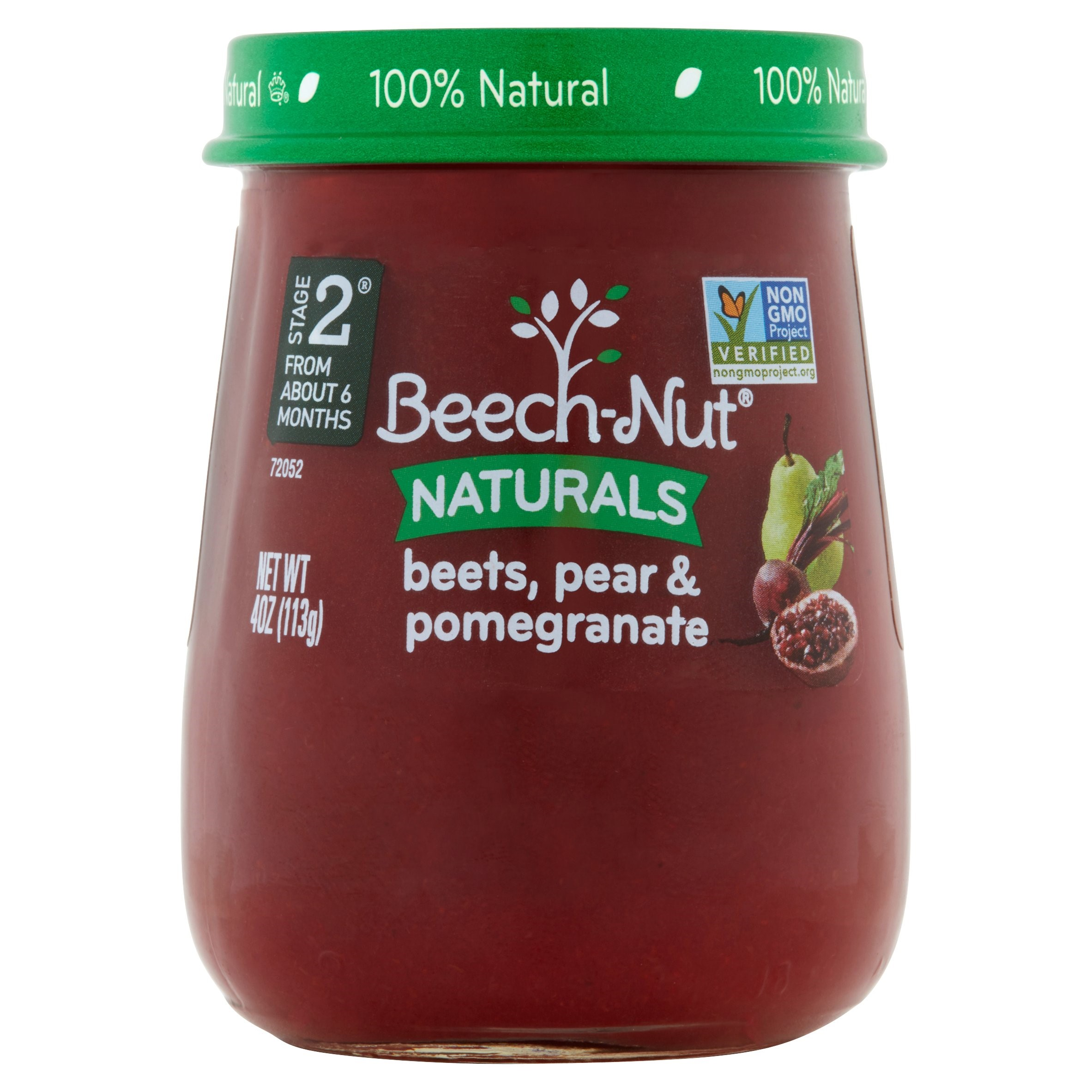 Beech-Nut Naturals Beets, Pear & Pomegranate Stage 2 from About 6 Months, 4 oz, 10 count
