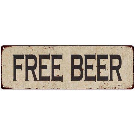 Free Beer Vintage Look Reproduction Metal Sign 6x18 6180519