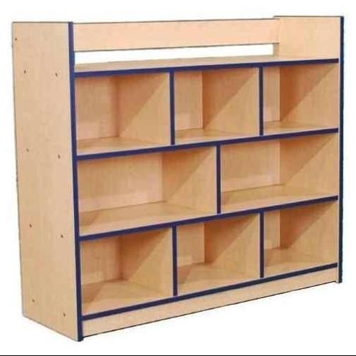 Single-Sided Storage w Book Rack (Maple, Teal)