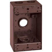Sigma 14251BR 1 Gang Bronze Rectangle Weatherproof Outlet Box
