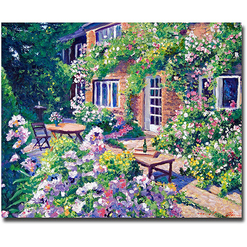"Trademark Art ""English Courtyard"" Canvas Wall Art by David Lloyd Glover"