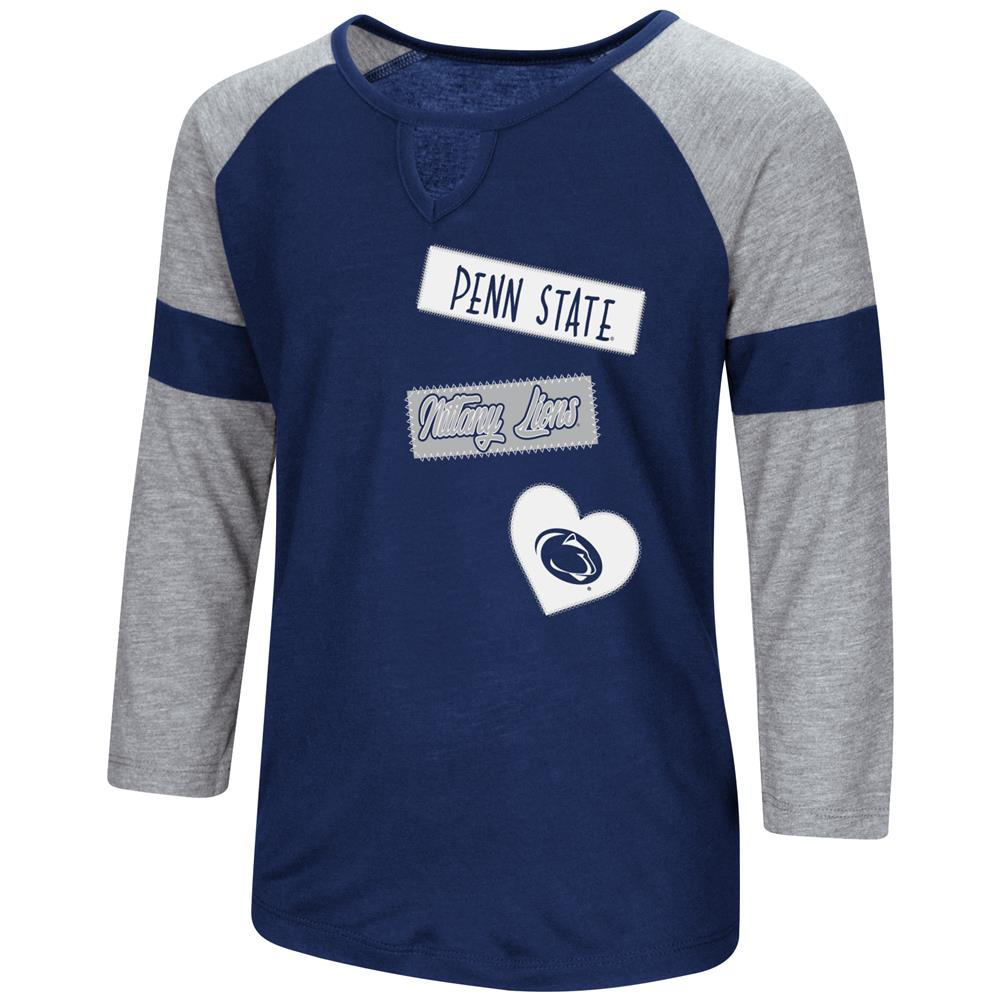 Penn State University Youth Girls 3/4 Sleeve All You Need Tee
