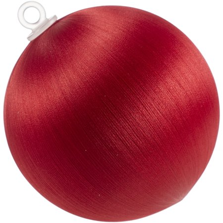 "Decorative Satin Covered Styrofoam Balls 3"" 4/Pkg-Christmas Red - image 1 of 1"
