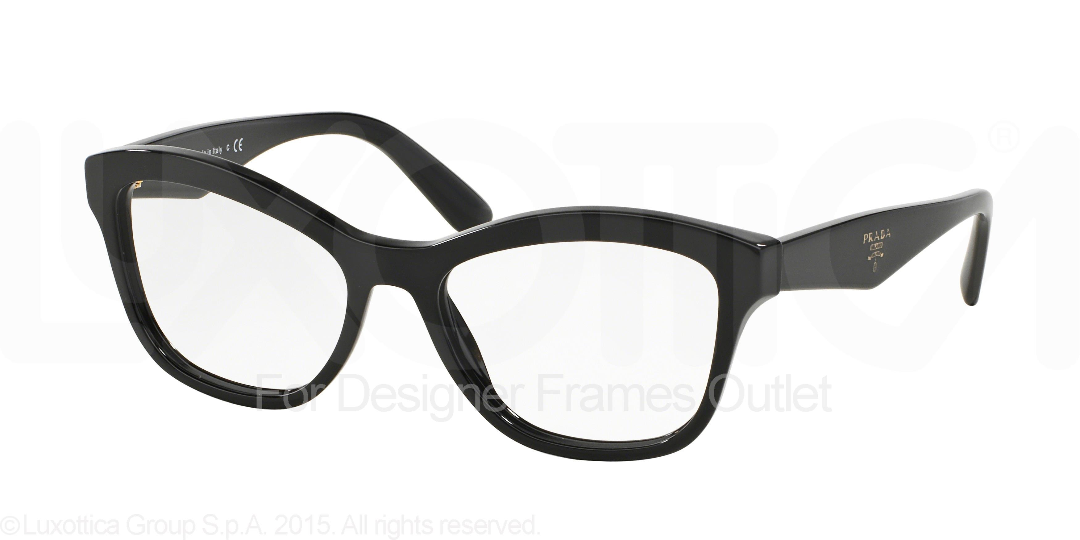 01a97cf22bb3 PRADA Eyeglasses PR 29RV 1AB1O1 Black 54MM - Walmart.com