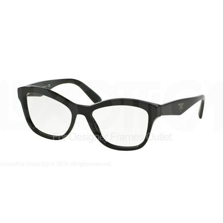 PRADA Eyeglasses PR 29RV 1AB1O1 Black (Prada Red Eyeglass Frames)