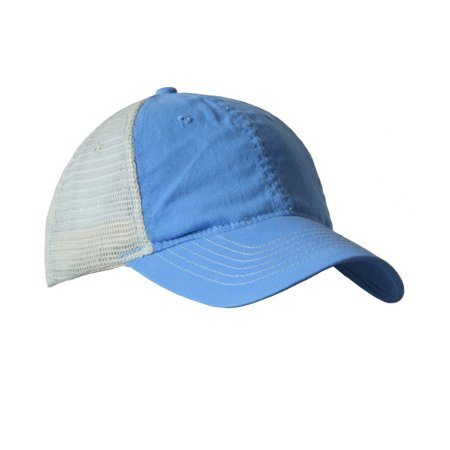 Ladies Washed Twill Cap (KC Caps Adjustable Two Tone Heavy Washed Cotton Twill Low Profile Mesh Retro Cap )