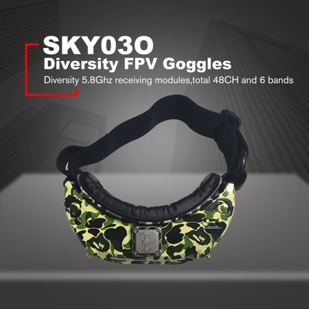 SKYZONE SKY03O 5.8GHz 48CH Diversity FPV Goggles Support HDMI Head Tracking with Fan DVR Front Camera For RC Drone - image 5 of 7