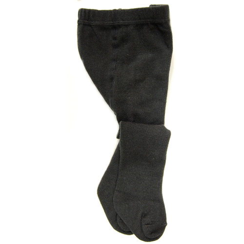 Faded Glory Baby Girls' 2-Pack Solid Black Tights