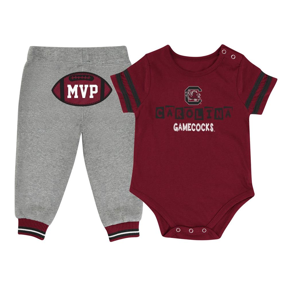 Infant MVP South Carolina Gamecocks Baby Bodysuit and Pant Set by Colosseum