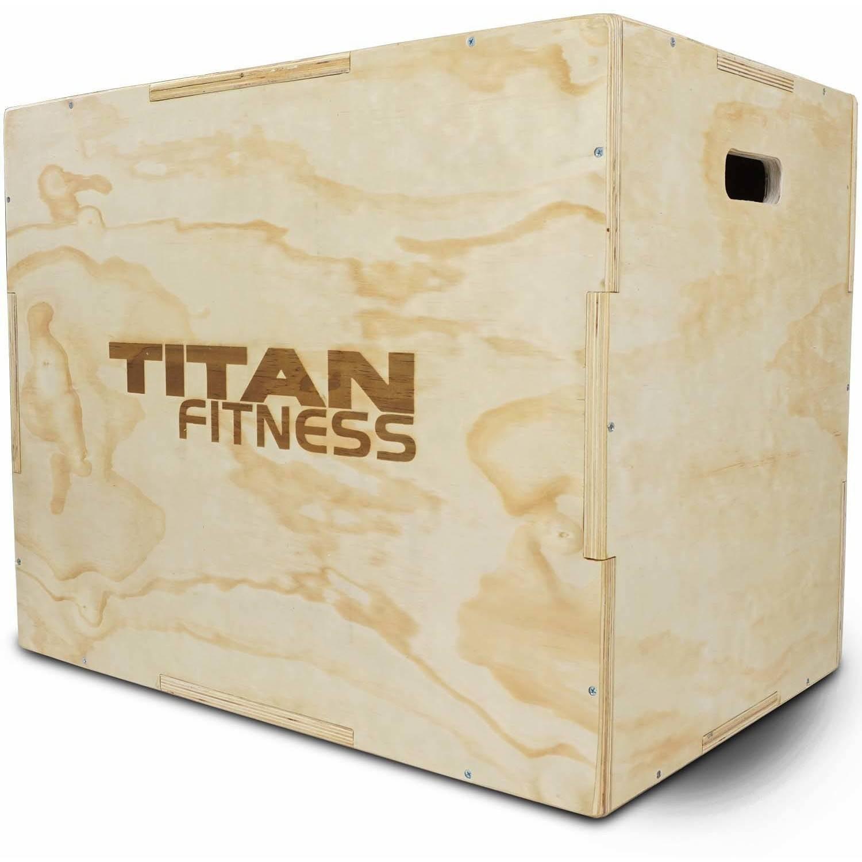 """Titan Fitness 20"""", 24"""", 30"""" Wood Plyometric Box"""
