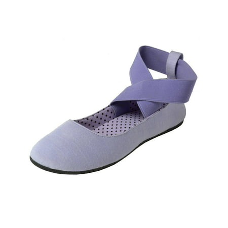 Sandy Ballet Flat - Alpine Swiss Peony Womens Ballet Flats Elastic Ankle Strap Shoes Slip On Loafers