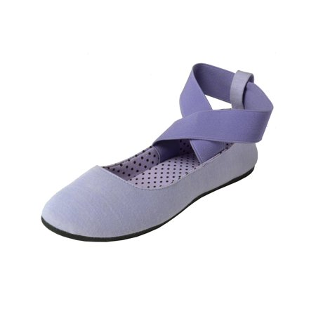 Stretch Ballet Flat - Alpine Swiss Peony Womens Ballet Flats Elastic Ankle Strap Shoes Slip On Loafers