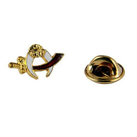 Shriner Lapel Pin Scimitar & Crescent Logo Emblem Brooch