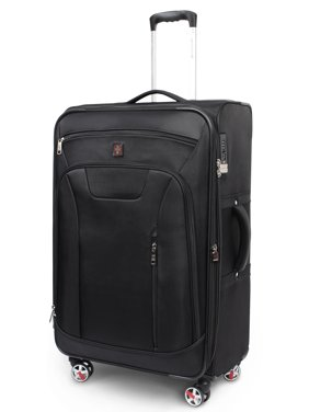 SwissTech Executive 4-Wheel Softside Luggage (Checked or Carry On)