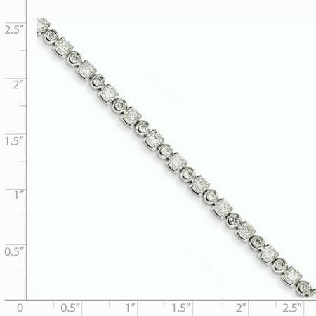 14K White Gold Diamond Bracelet - image 1 of 2