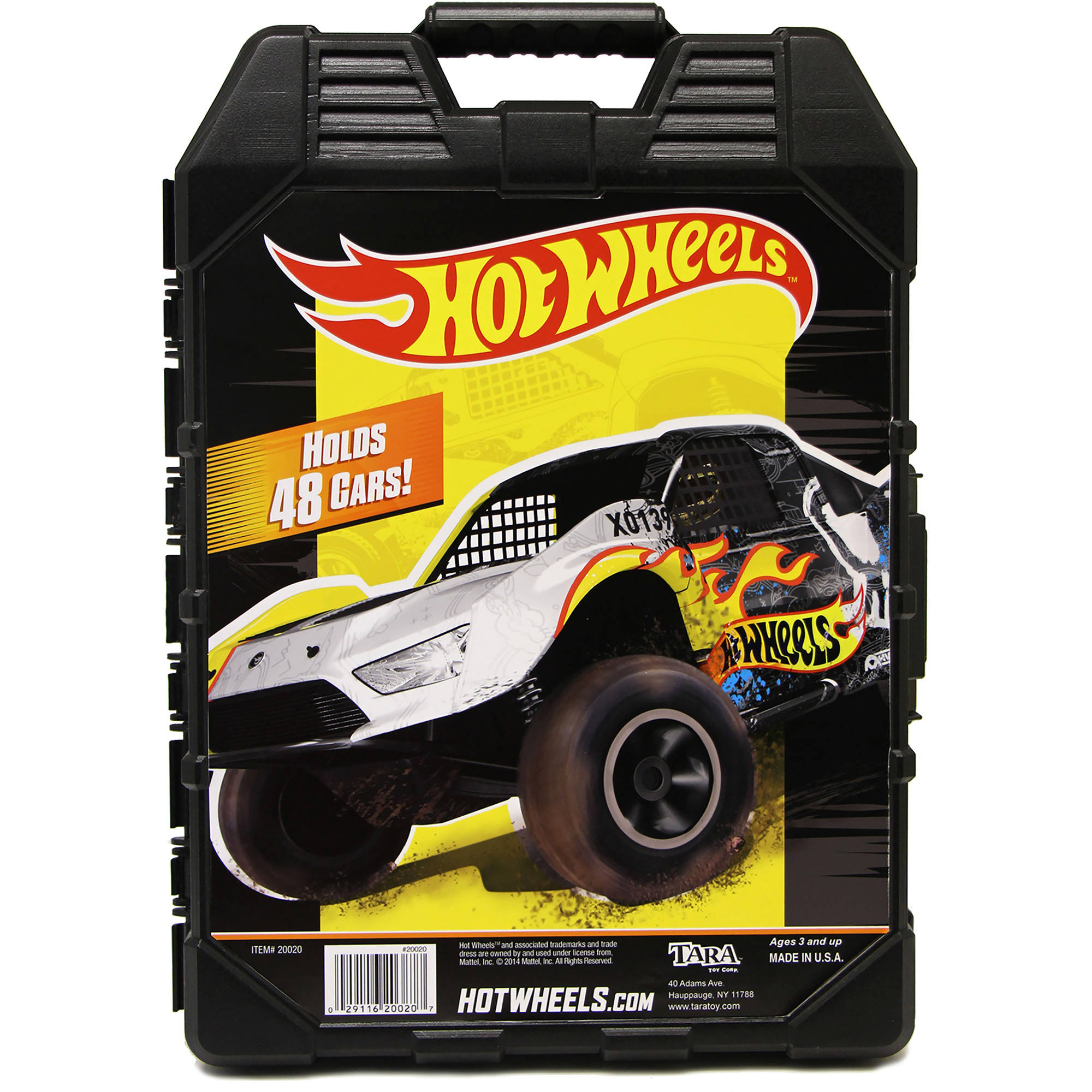 Hot Wheels 48- Car storage Case With Easy Grip Carrying Case by Tara Toy Corporation
