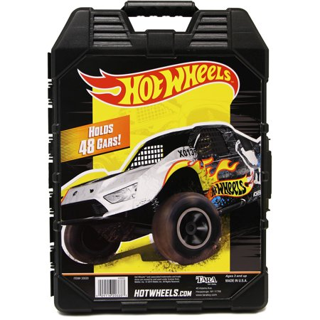Hot Wheels 48- Car storage Case With Easy Grip Carrying Case (Hot Wheels Camera Car)