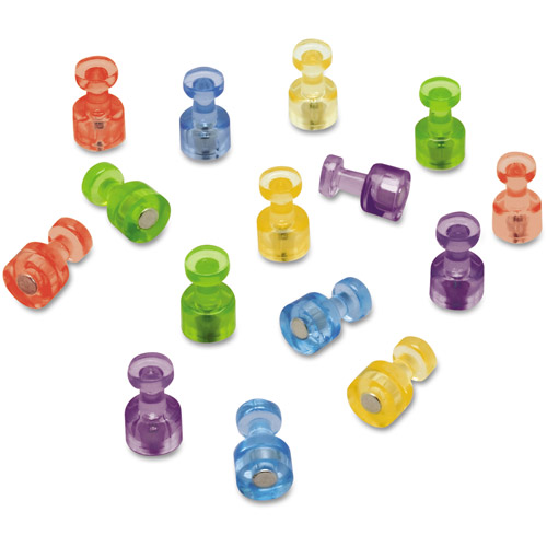 Quartet Magnetic Push Pins for Magnetic Planning Boards, Assorted Colors, 20/Pack