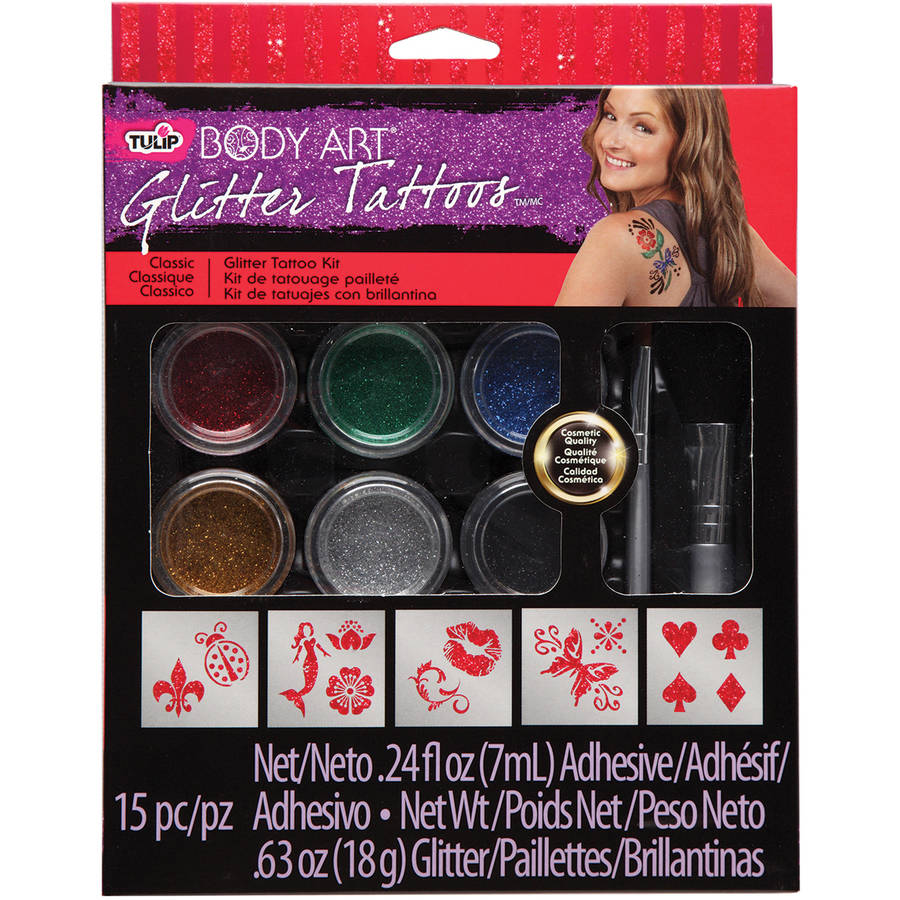 Tulip Body Art Large Glitter Tattoo Kit