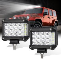 TSV LED Pods Lights Bar, 4inch Triple Row LED Work Light Pods, 12V 114W 6000K 11400 Lumens Cool White, 1-Pair