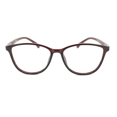 Eye Buy Express Prescription Glasses Mens Womens Burgundy Burgundy Cat Eye Style Retro Reading Glasses Lightweight Anti (Lightweight Glasses Brands)