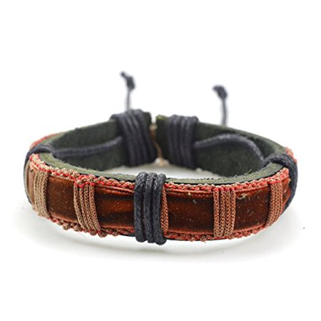 Fashion Jewelry Stunning Unisex Gipsy Leather Hemp adjustable bracelet