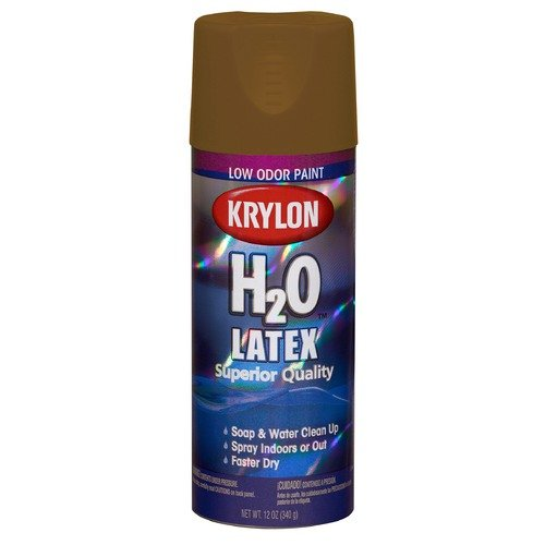 Krylon Panama Canal Beige H2O The Super Smooth Latex Spray Paint 2613 (Set of 6)