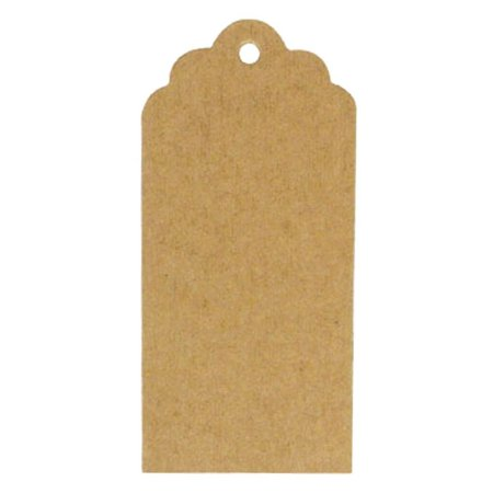 Wrapables® 50 Gift Tags/Kraft Hang Tags with Free Cut Strings for Gifts, Crafts & Price Tags - Scalloped - Vintage Gift Tags
