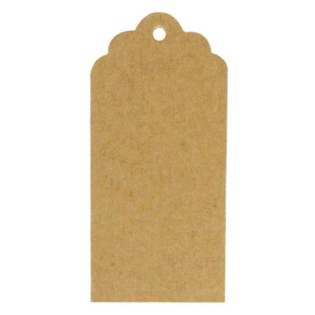 Wrapables® 50 Gift Tags/Kraft Hang Tags with Free Cut Strings for Gifts, Crafts & Price Tags - Scalloped Tag These tags are the perfect gift accessory.