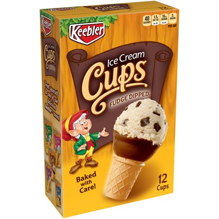 Keebler Cones, Fudge Dipped Ice Cream Cups, 3.25 oz 12 Ct - Halloween Ice Cream Names