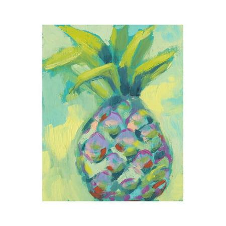 Vibrant Pineapple I Print Wall Art By Jennifer Goldberger (Vibrant Print)