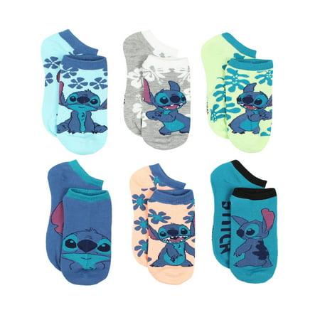 Disney Pixar Cars Socks - Disney Lilo & Stitch Womens 6 pack No Show Socks LO002JNS