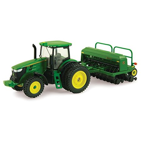 John Deere Grain - Ertl Collectibles John Deere 7215R Tractor with Grain Drill Multi-Colored