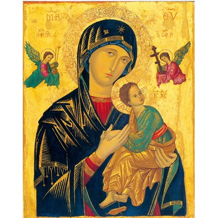 Canvas Print Holy Icon Madonna Mother Of Perpetual Help Stretched Canvas 10 x 14