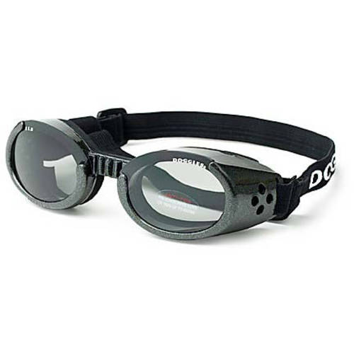 Doggles ILS Dog Sunglasses, Medium, Chrome/Smoke