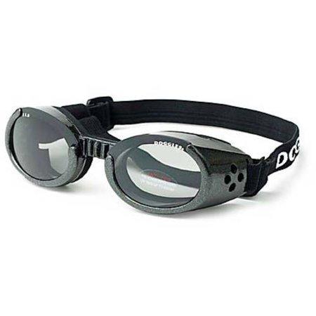 Doggles ILS Dog Sunglasses, Medium, Chrome/Smoke Chrome Womens Sunglasses