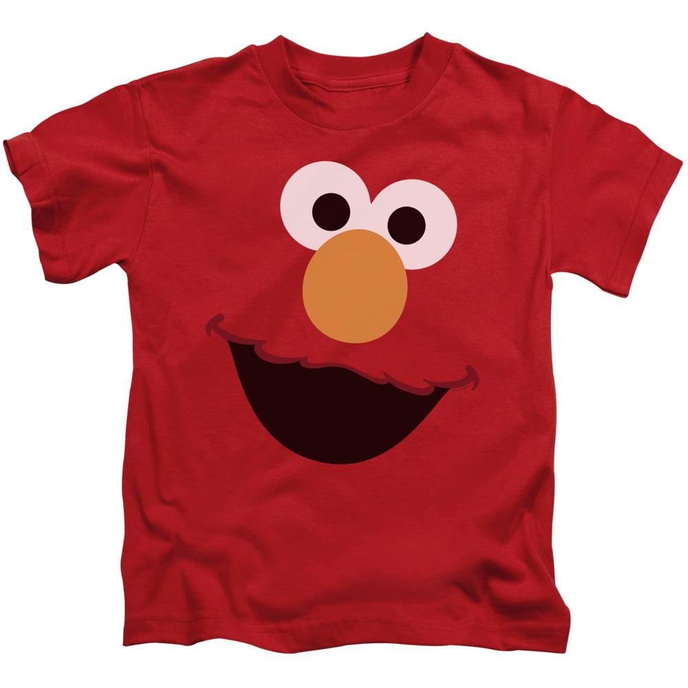 Sesame Street Elmo Face Little Boys Shirt