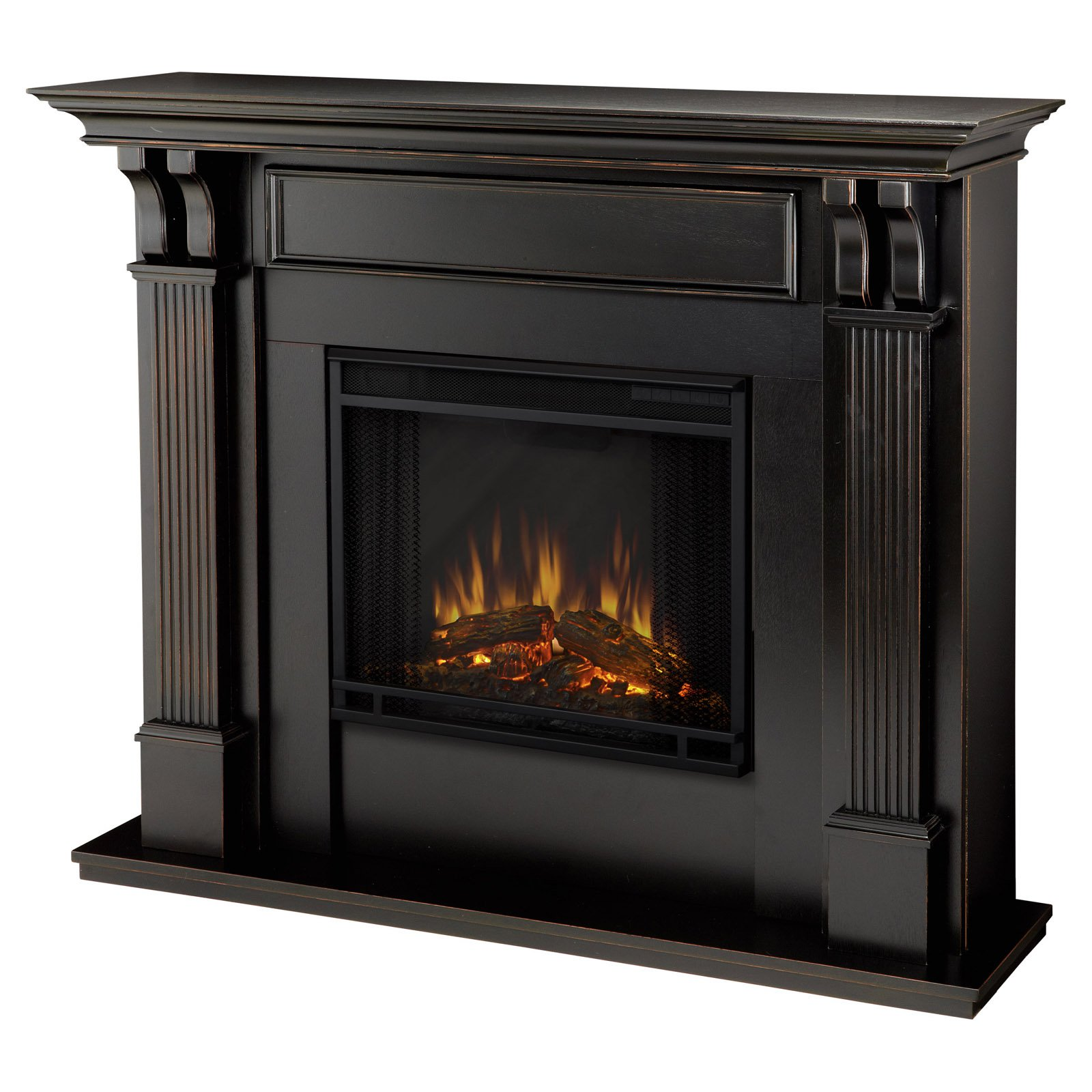 Real Flame Ashley Indoor Electric Fireplace Black Wash by Real Flame