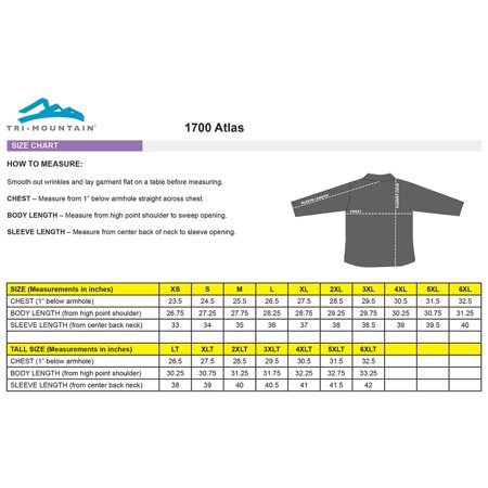 Tri-Mountain Men's Big And Tall Zipper Shell Jacket