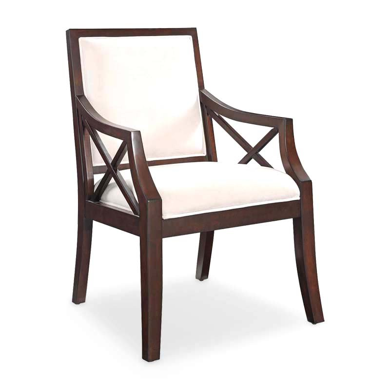 Coast to Coast Imports LLC Fabric Arm Chair in Brown Cherry