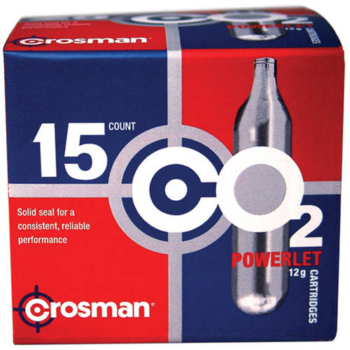 Crosman 12g CO2 Powerlets, 15ct