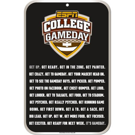 College Game Day 11   X 17   Sign